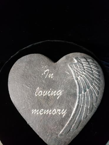 In Loving Memory Heart Stone