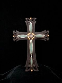 Turquiose Metallic Cross