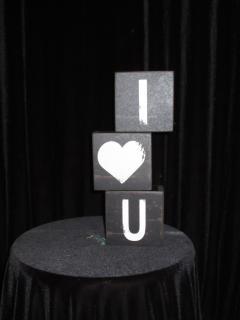 I heart U 3 block set