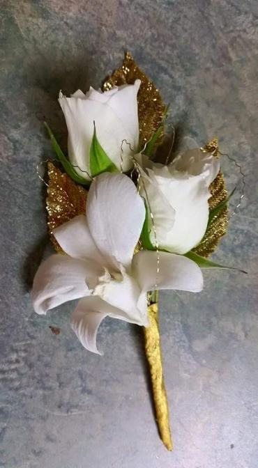 Gold Accented Boutonniere