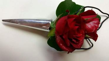 Double Red Boutonniere