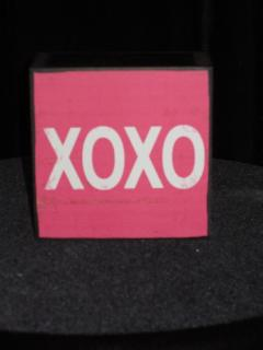 XOXO wooden block