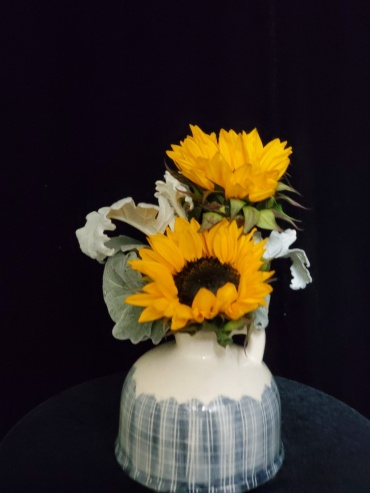 Sunflowers in a Country Jug