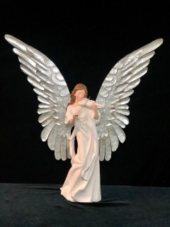 Large angel with metal wings - Violin