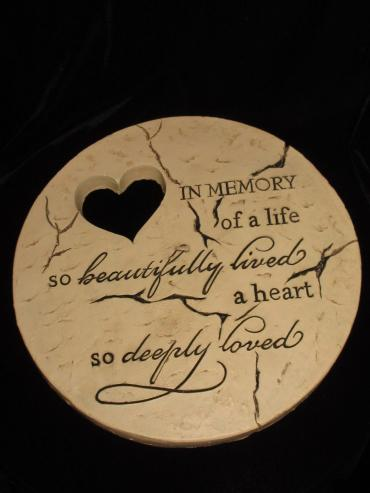 Heart Cut Out Memory Stone