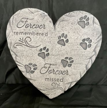 Heart Pet Memorial Stepping Stone