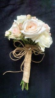 Burlap and Lace Bridal Bouquet