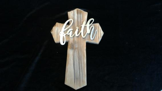 Faith Wooden Cross