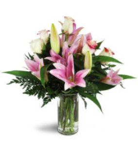 Alluring Roses and Lilies