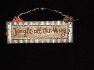 Jingle All the Way Tin Ornament