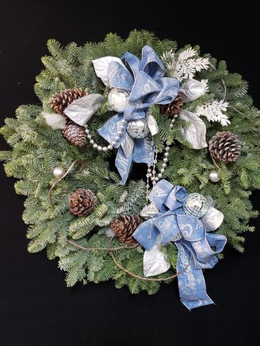 Have a Blue Christmas Fresh Wreath