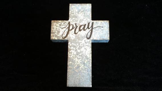 Pray Tin Cross