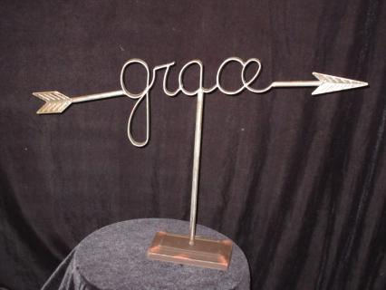 """Grace\"" Iron Sign"