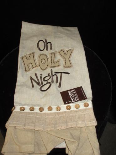 Oh Holy Night Decorative Towel