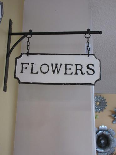 Flowers Metal Sign