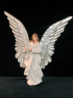 Large Angel with metal wings - Harp
