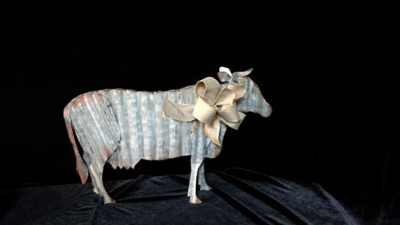 Corrugated Tin Cow