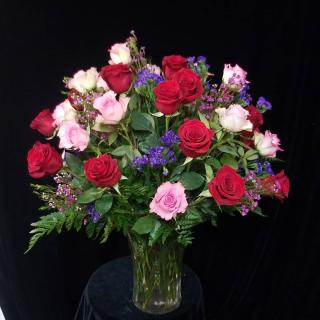 3 Dozen Mixed Roses