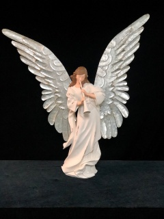 Large Angel with metal wings - Horn