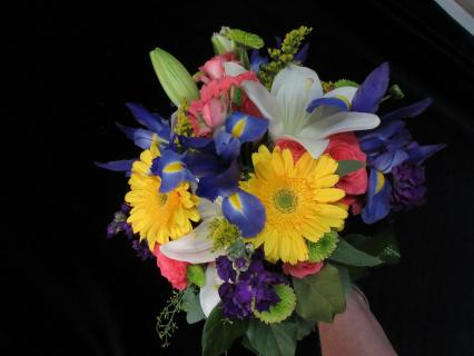 Sunflower Bliss Bridesmaids bouquet