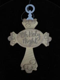 Oh Holy Night Cross Ornament