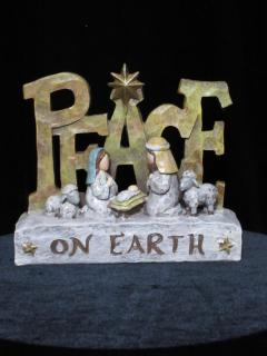 Peace Shelf Plaque