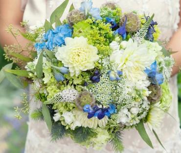 Blues and Greens Bouquet