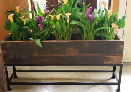 Rustic Barn Wood Planter